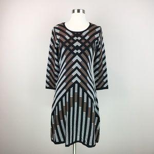 Nine West Chevron Sweater Dress Size XS